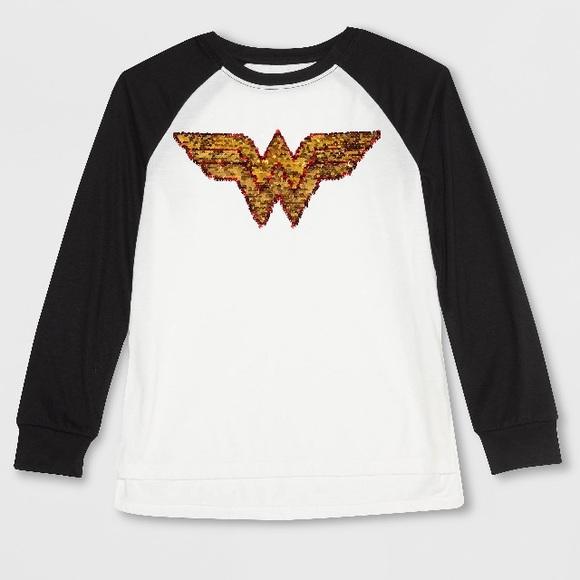 c03e5ea7 DC Comics Shirts & Tops | Sequin Wonder Woman Top | Poshmark